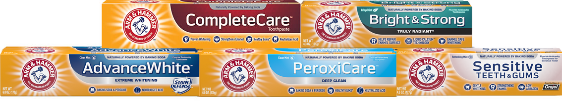 ARM & HAMMER Toothpaste product line