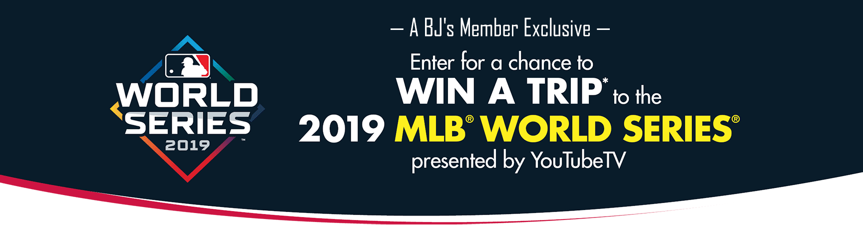 Enter for a chance to win a trip to the 2019 MLB World Series presented by YouTubeTV