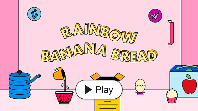 Rainbow Banana Bread