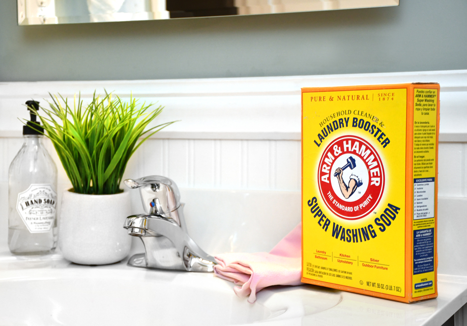 Super Washing Soda for Natural Bathroom Cleaning