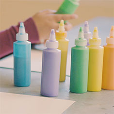 How to make puffy paint with baking soda.