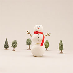 How to make a snowman craft with baking soda.