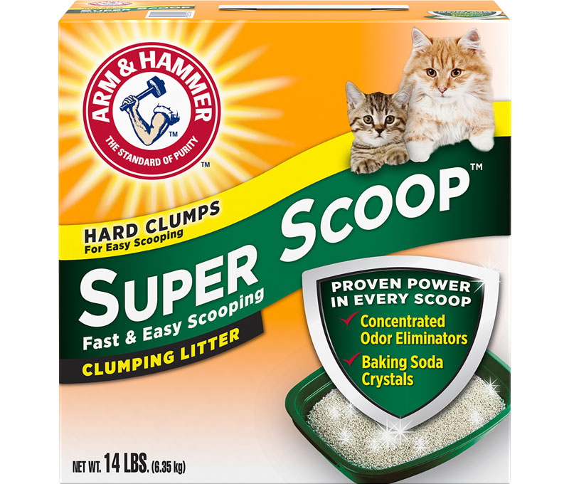 ARM & HAMMER™ Super Scoop™ Arena aglutinante, aroma fresco