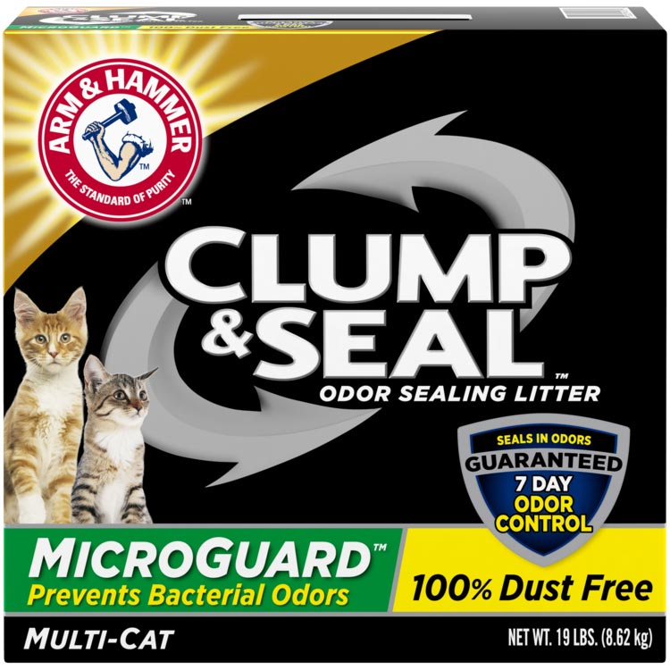 Clump & Seal™ MicroGuard™ Odor Sealing Clumping Cat Litter,  Fresh Scent