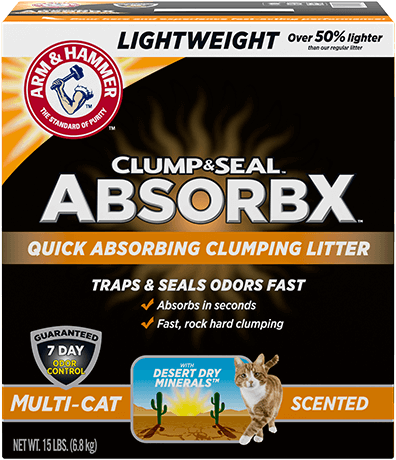Clump & Seal™ AbsorbX Lightweight Clumping Litter, Multi-Cat