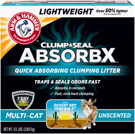 Clump & Seal™ AbsorbX Lightweight Clumping Litter, Multi-Cat Unscented