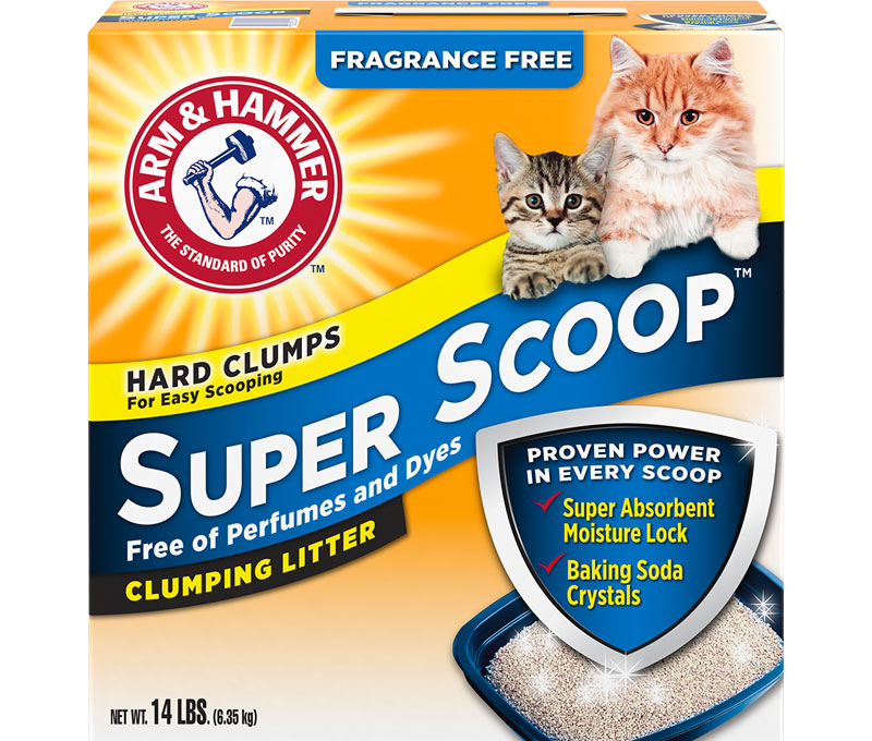 ARM & HAMMER™ Super Scoop™ Clumping Litter, Fragrance Free