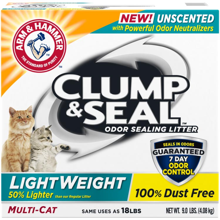 Clump Seal Lightweight Odor Sealing Clumping Litter Unscented 9 lb