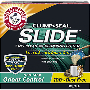 SLIDE™ Easy Clean-Up Clumping Litter, Non-Stop Odour Control