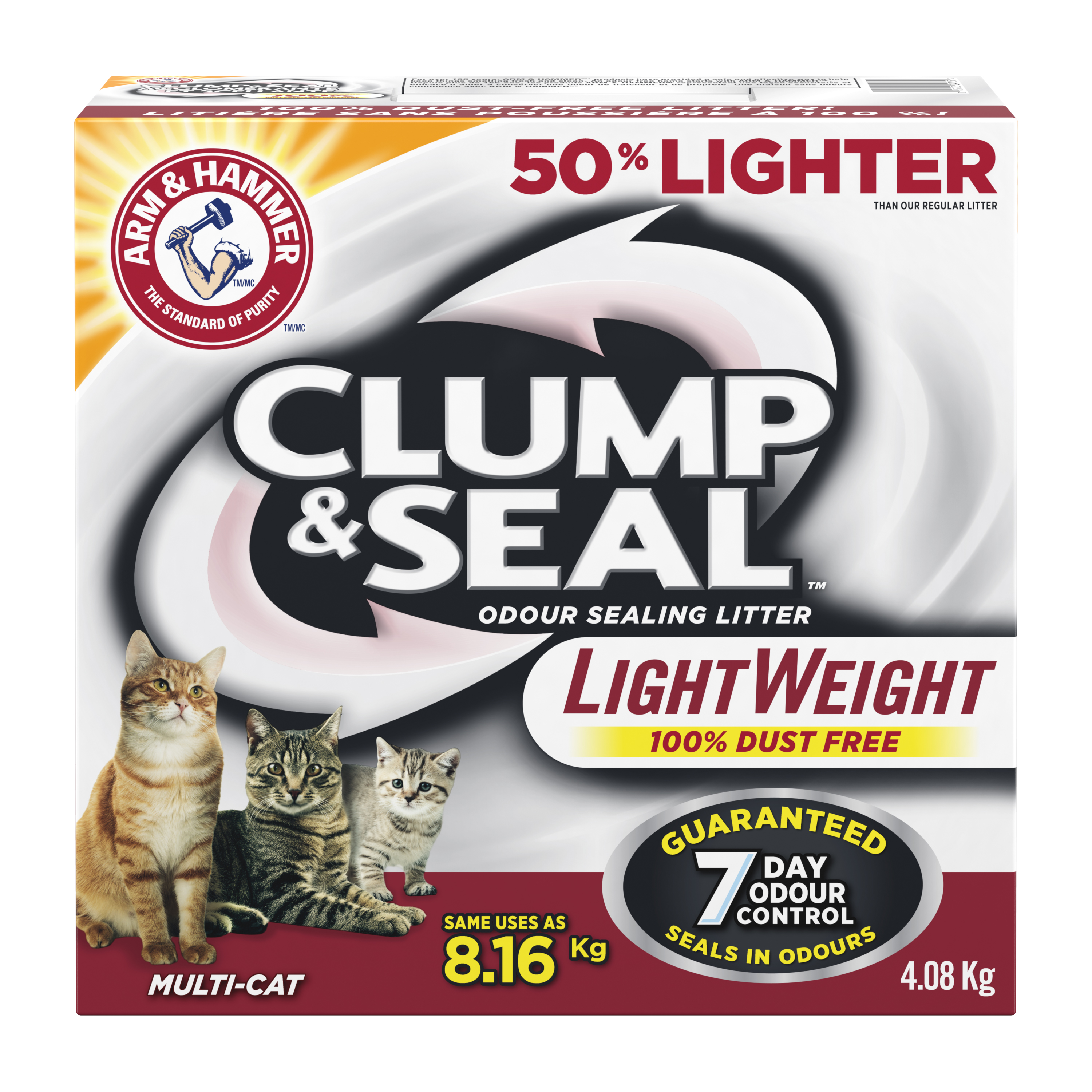 Clump & Seal™ Lightweight Odour Sealing Clumping Litter, Multi-Cat