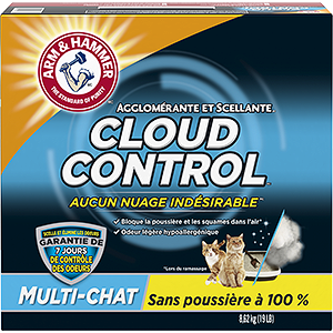 La litière agglomérante Breathe Easy ARM & HAMMER<sup>MC</sup> Cloud Control<sup>MC</sup>  pour chats