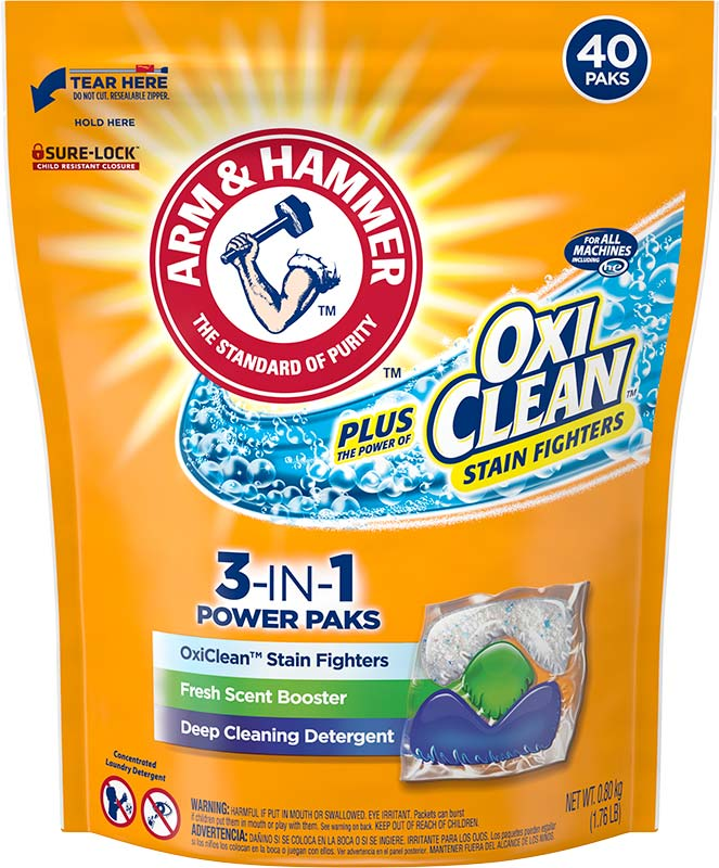 plus OxiClean™ 3-IN-1 Power Paks