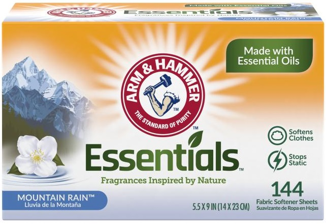 Essentials™ Fabric Softener Sheets, Mountain Rain