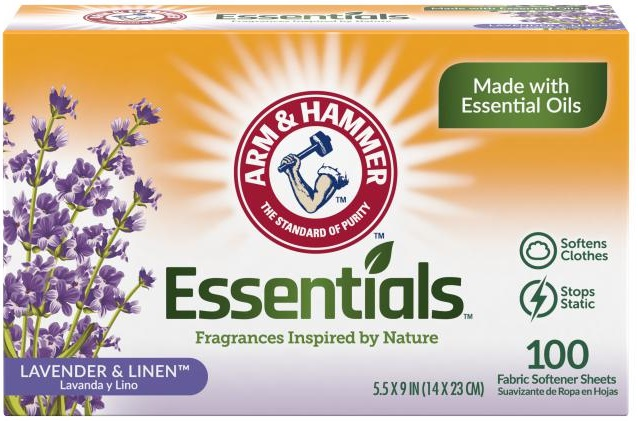 Essentials™ Fabric Softener Sheets, Lavender & Linen