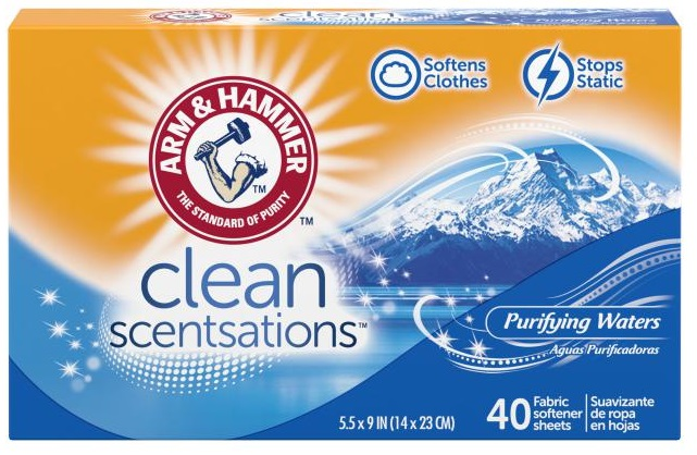 Clean Scentsations™ Fabric Softener Sheets, Purifying Waters