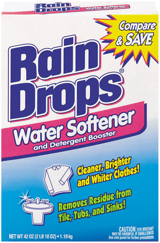 RainDrops™ Water Softener and Detergent Booster