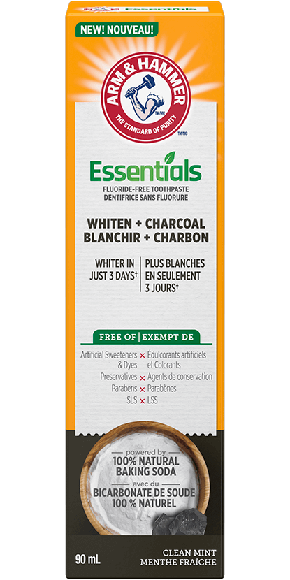 Essentials Whiten + Activated Charcoal Fluoride-Free Toothpaste