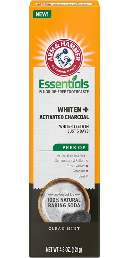 Essentials Fluoride-Free Toothpaste Whiten + Activated Charcoal