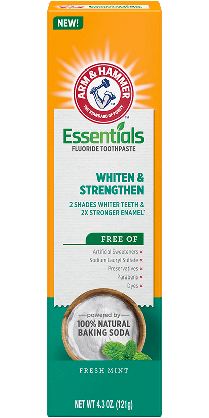 Essentials Whiten & Strengthen Fluoride Toothpaste