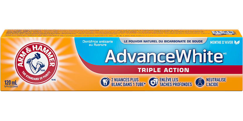 Dentifrice Advance White Puissance 3 en 1