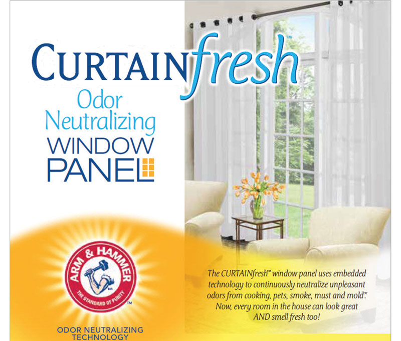 Curtain Fresh Odor‐Neutralizing Sheer Panel